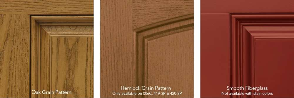 Heritage fiberglass door finishes
